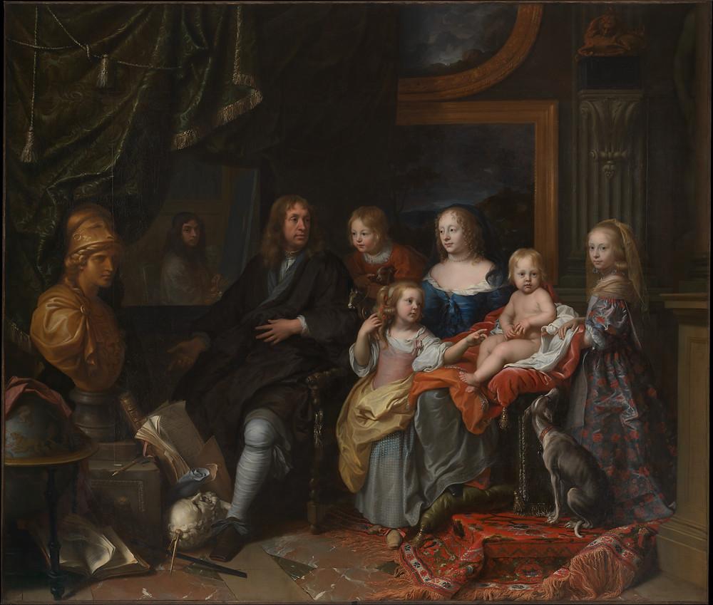 Charles Le Brun, Portrait d'Everhard Jabach et de sa famille, vers 1660-1661, New York, The Metropolitan Museum of Art, inv. 2014.250