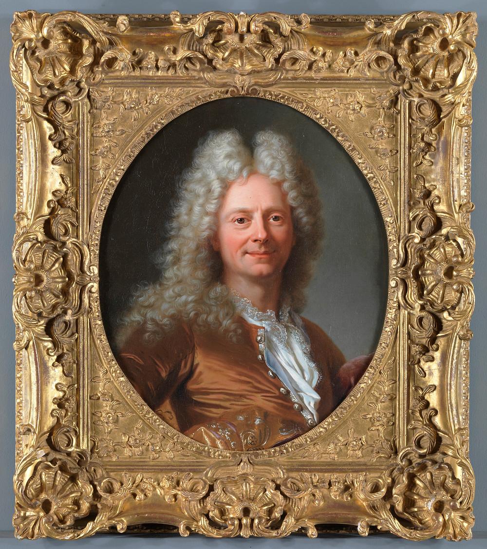 Hyacinthe Rigaud, Portrait d'un homme inconnu, vers 1705-1710, collection particulière