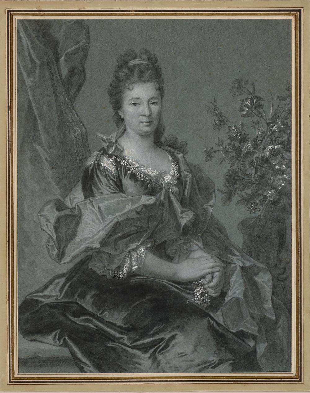 Hyacinthe Rigaud avec la collaboration de Charles Viennot, Portrait d'une femme inconnue, après1699,États-Unis, Boston, coll. Jeffrey E. Horvitz,inv. D-F-260/1.1993.152