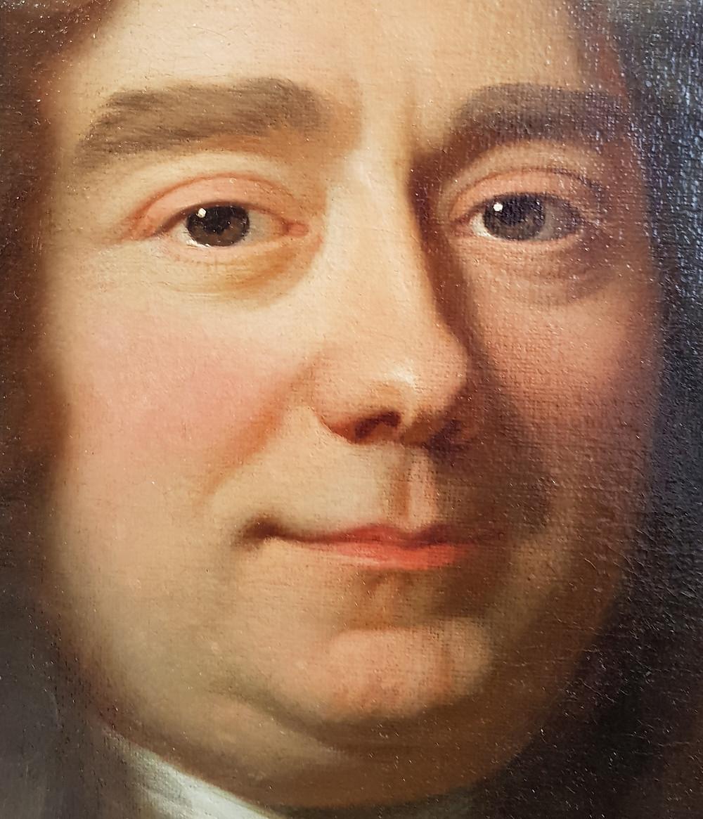 Hyacinthe Rigaud, Portrait de François Bégon, 1695, détail, collection particulière