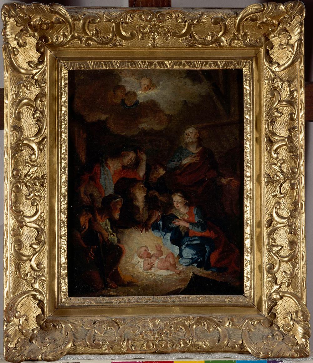 Hyacinthe Rigaud, Esquisse pour L'Adoration des bergers, vers 1687, Rennes, musée des Beaux-Arts, inv. 1998.9.11.