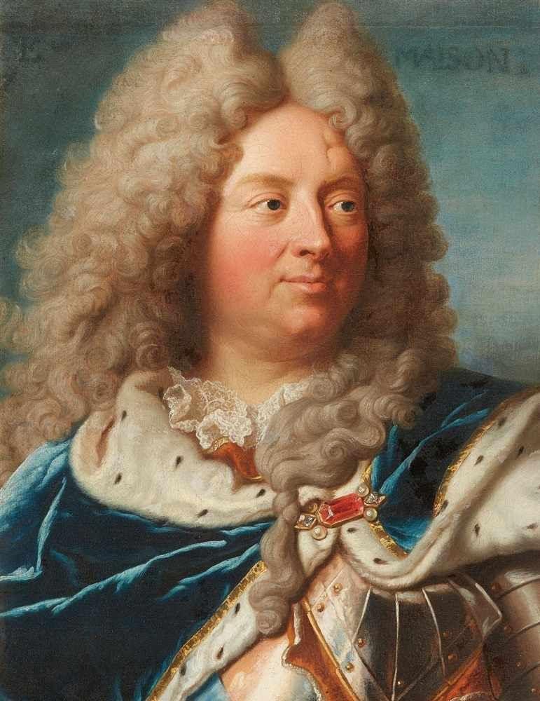 Anonyme d'aprèsHyacinthe Rigaud, Portrait de Louis Antoine de Pardaillan de Gondrin, duc d'Antin, après 1724,collection particulière