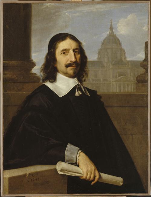 Philippe de Champaigne, Portrait de l'architecte Jacques Lemercier, 1644, Versailles, musée national du château et des Trianons, inv. MV 7545