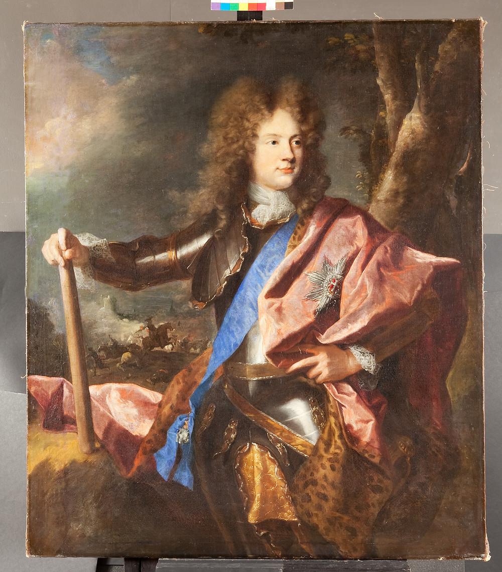 Hyacinthe Rigaud, Portrait de Christian Gyldenlove, comte de Samsoe, 1693, Danemark, Frederiksborg, Nationalhistoriske Museum, inv. A 4499