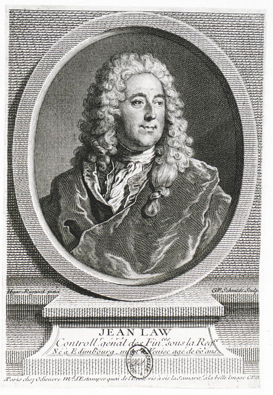 Georg Friedrich Schmidt d'après Hyacinthe Rigaud, Portrait de John Law, 1738, Paris, Bibliothèque nationale de France, département des Estampes et de la photographie, Da. 63 fol. 166
