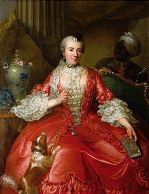 Michel Hubert-Descours, Portrait de Marie Jacqueline Descours, née Fabre, 1746, collection particulière