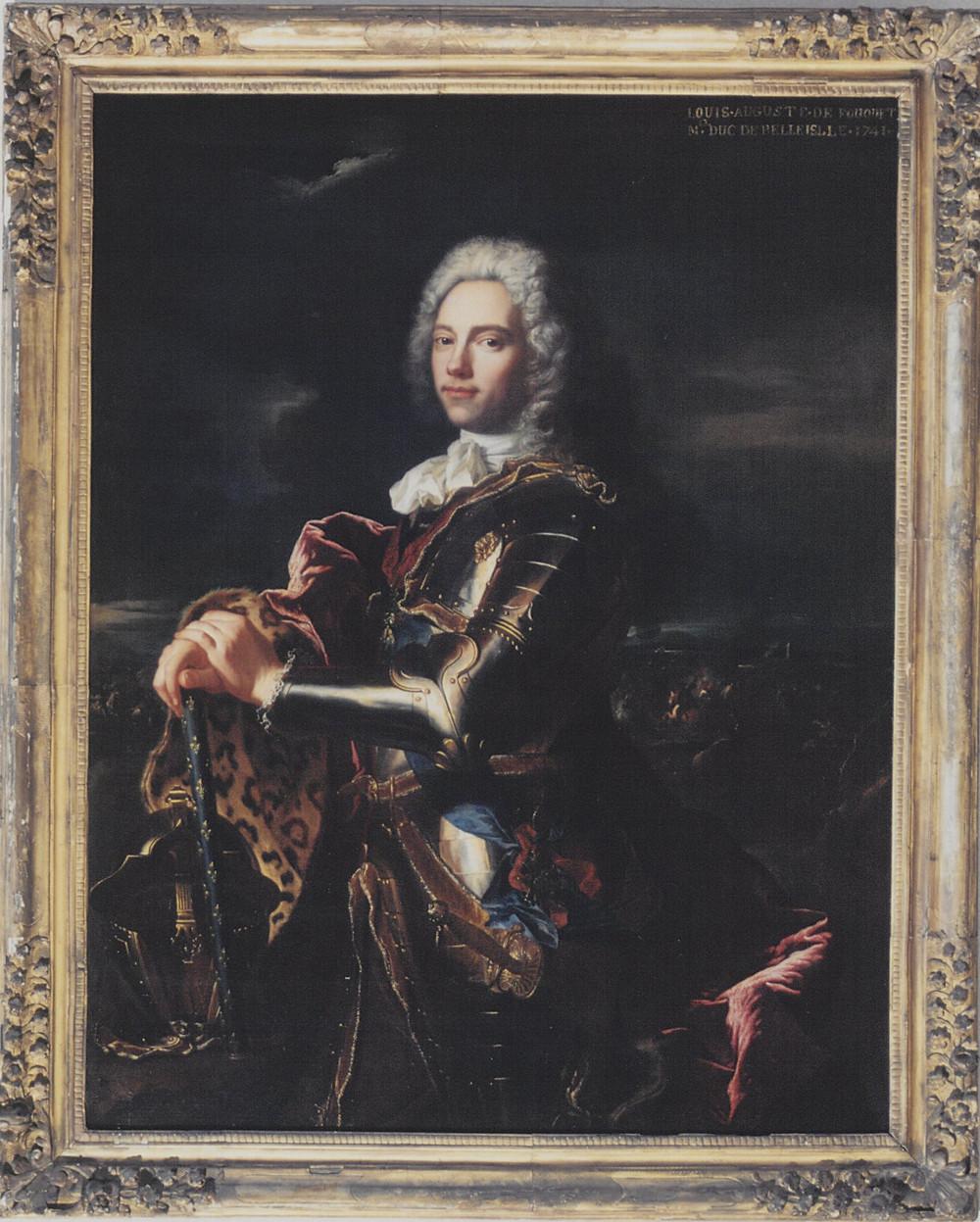 Hyacinthe Rigaud et atelier, Portrait de Charles Louis Auguste Fouquet de Belle-Isle, 1713-1714 et retouché vers 1741-1742, Manom, château de La Grange, collection particulière