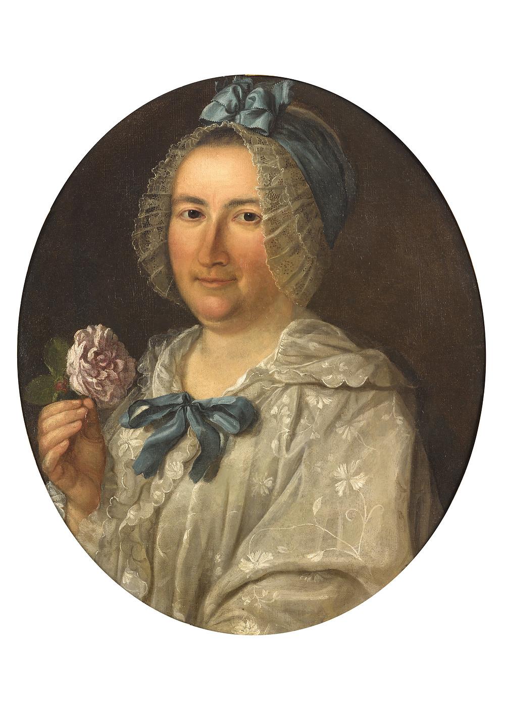 Michel Hubert-Descours, Portrait de Marie Jacqueline Descours, née Fabre, 1770, collection particulière