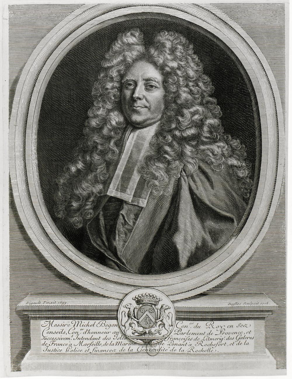 Claude Duflos d'après Hyacinthe Rigaud, Portrait de Michel Bégon l'Aîné, 1708, Paris, BnF, département des Estampes et de la la photographie, Da. 64 p. 117 [57]