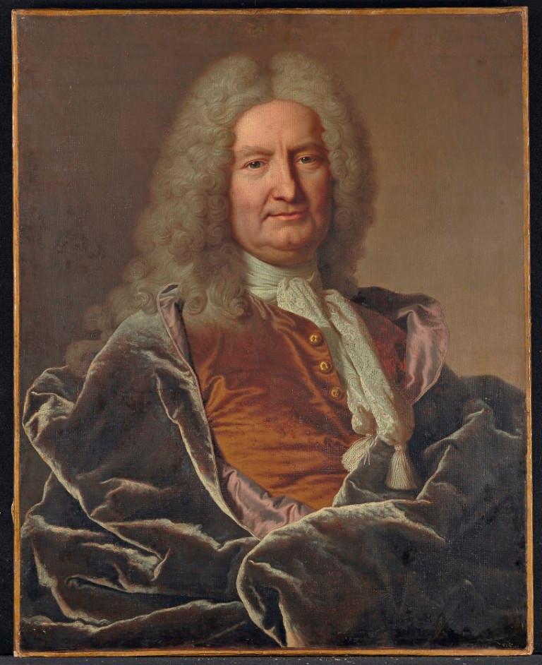 Hyacinthe Rigaud et atelier, Portrait de Jean François de La Porte, 1733, collection particulière