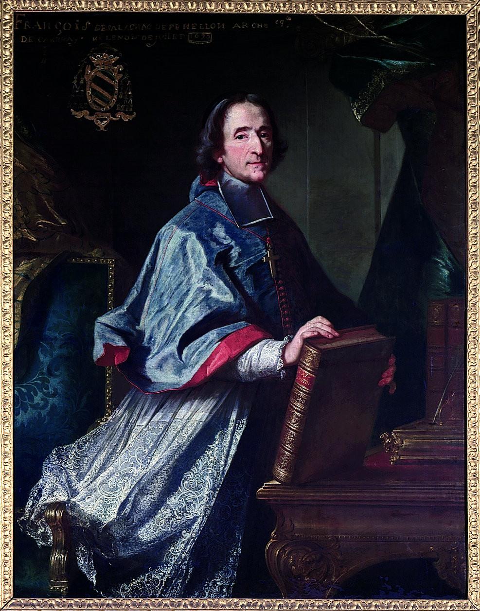 Bailleul, Portrait de François de Salignac de La Mothe-Fénelon dit Fénelon, 1718, Périgueux, musée d'art et d'archéologie du Périgord, inv. 75.2