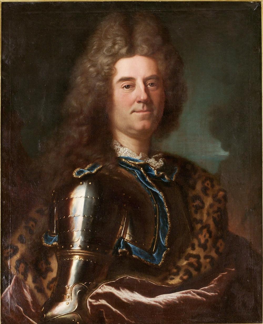 Hyacinthe Rigaud et atelier, Portrait d'Erik Axelsson Sparre de Sundby, 1717, collection particulière