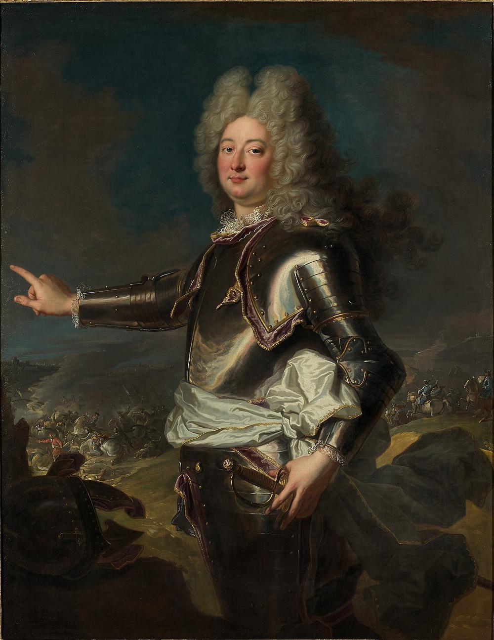 Anonyme d'après Hyacinthe Rigaud, Portrait d'un officier supérieur inconnu, 2e moitié du XVIIIe siècle, collection particulière