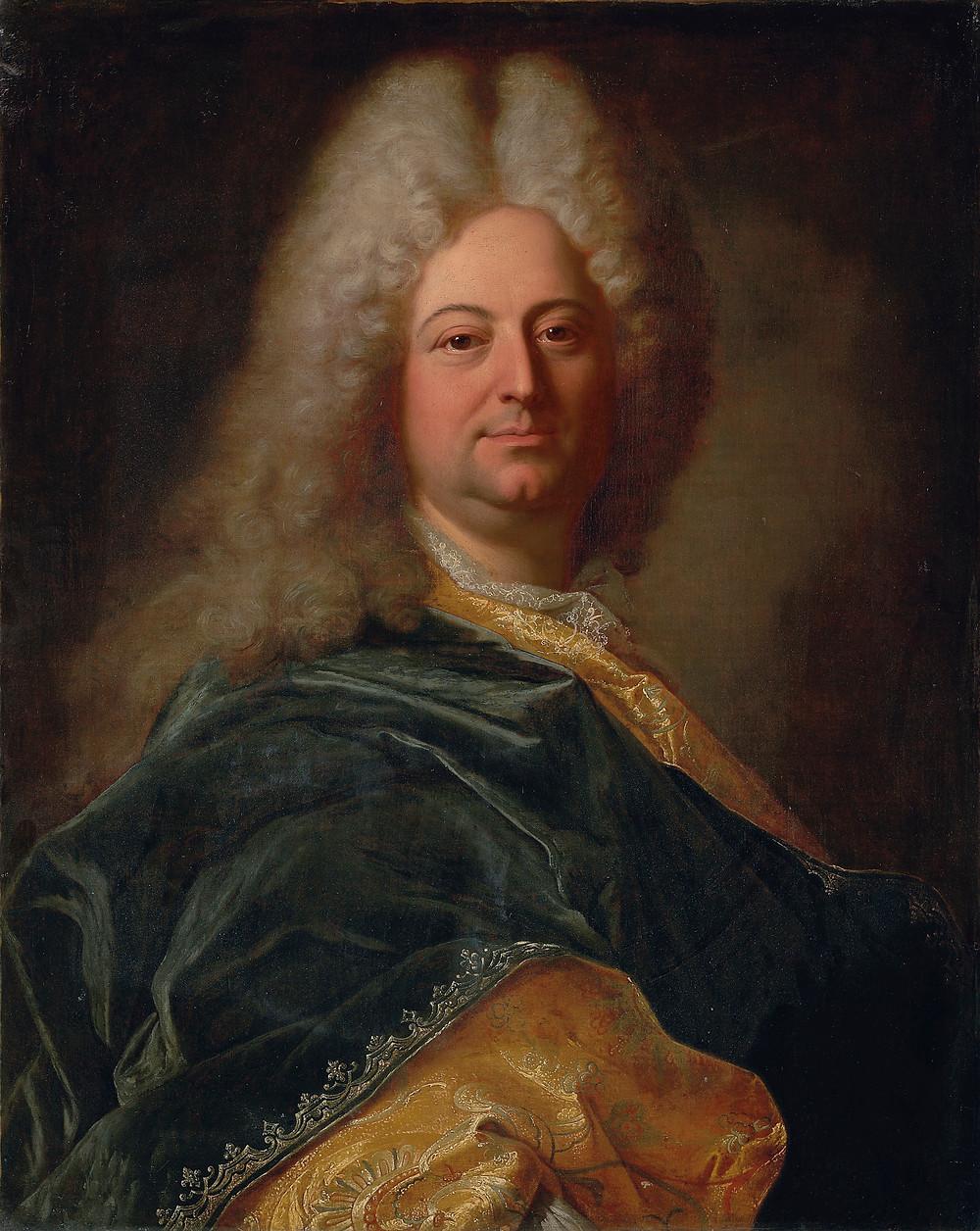 Hyacinthe Rigaud, Portrait de Guillaume III Scot de la Mésangère, 1712, collection particulière