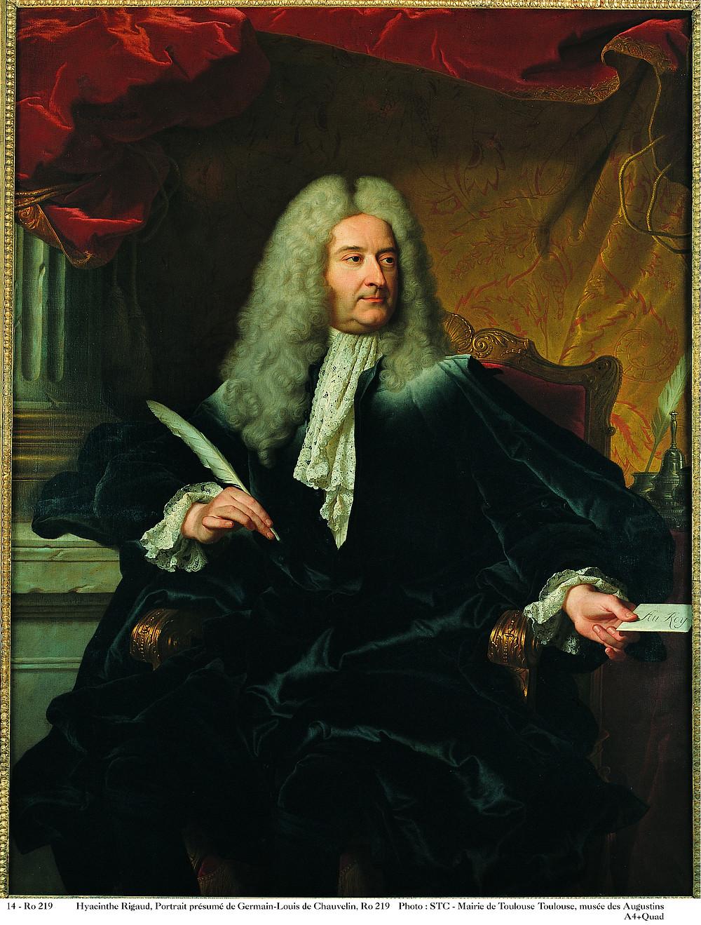 Hyacinthe Rigaud et atelier, Portrait de Michel Robert Le Peletier des Forts, 1727, Toulouse, musée des Augustins, inv. RO 219