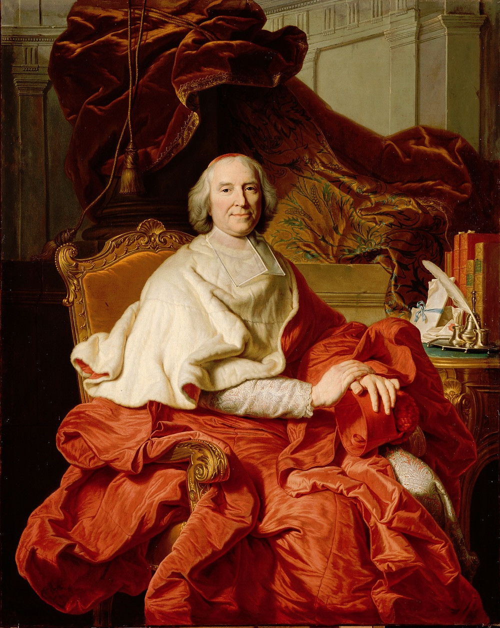 Hyacinthe Rigaud et atelier, Portrait du cardinal de Fleury, vers 1728, Royaume Uni, Goodwood House, collection duc de Richmond et Gordon