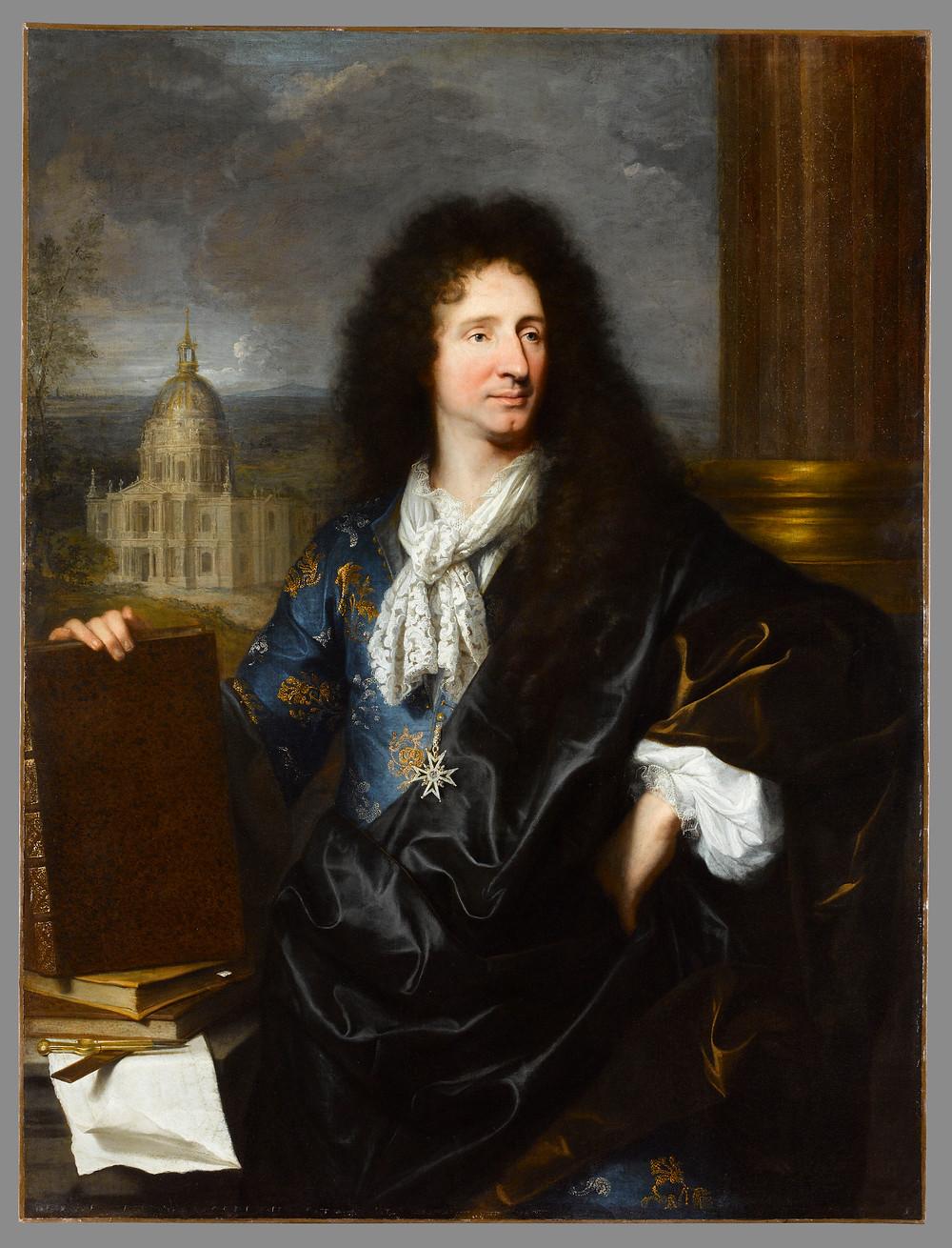 Hyacinthe Rigaud, Portrait de l'architecte Jules Hardouin-Mansart, 1685, Paris, musée du Louvre, inv. 7510