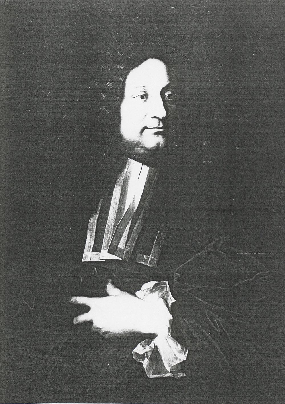Hyacinthe Rigaud, Portrait de Jean Léonard Secousse, 1707, collection particulière