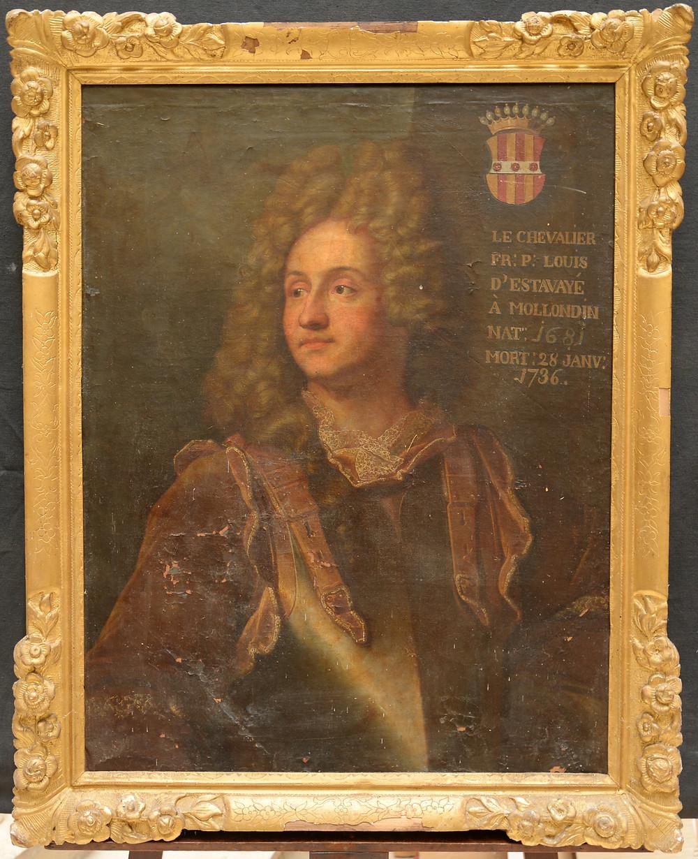 Anonyme d'après Hyacinthe Rigaud, Portrait de François Henri d'Estavayer-Mollondin, après 1705, collection particulière