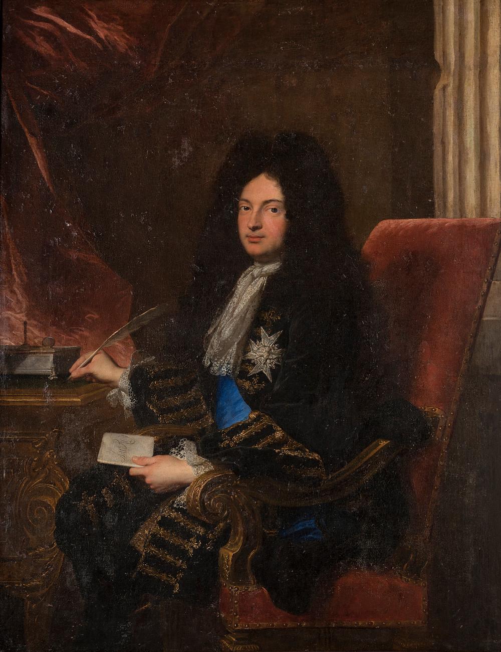Hyacinthe Rigaud, Portrait de Jean-Baptiste Colbert, marquis de Torcy, 1699, collection particulière