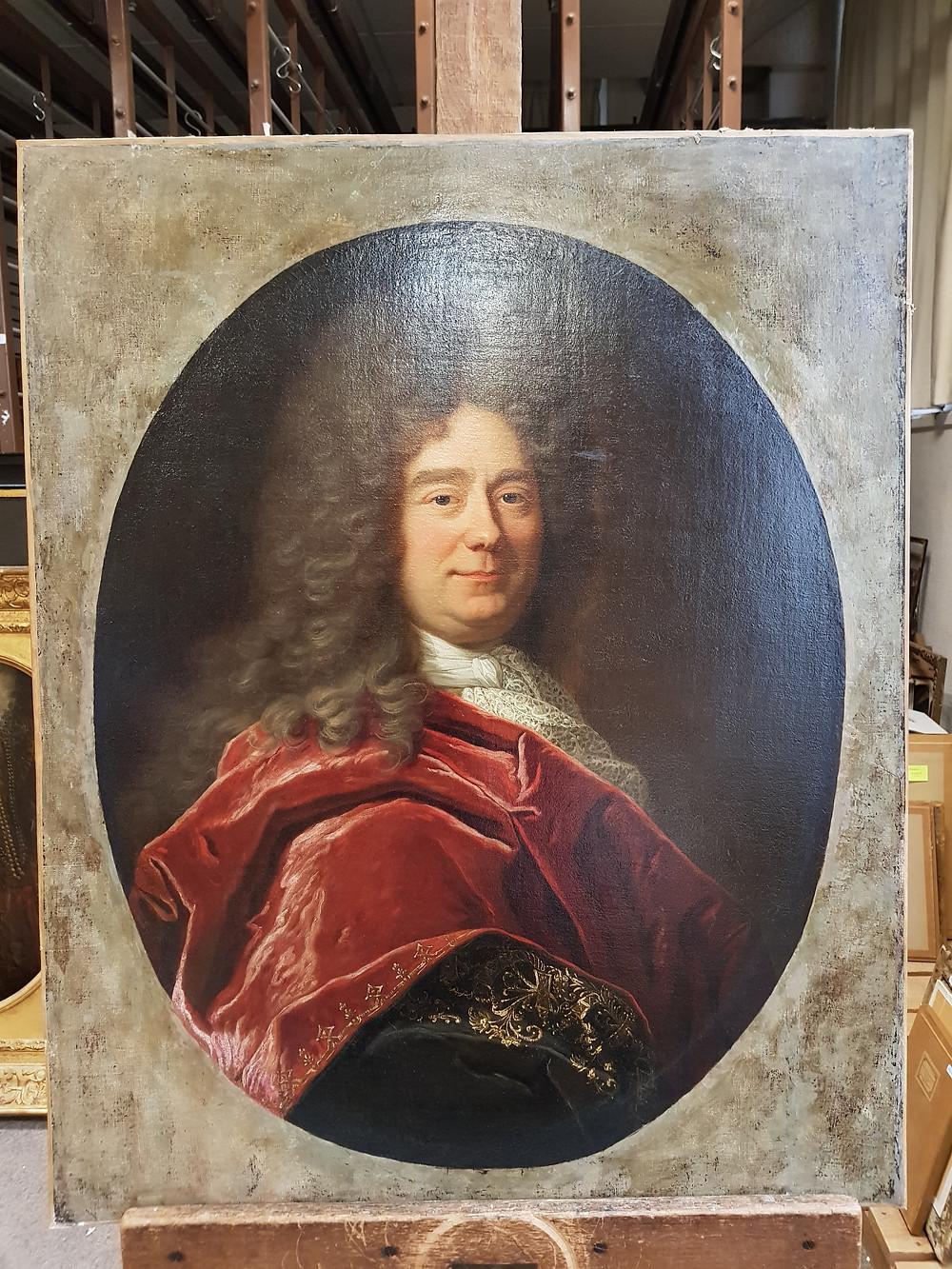 Hyacinthe Rigaud, Portrait de François Bégon, 1695, sans son cadre, collection particulière