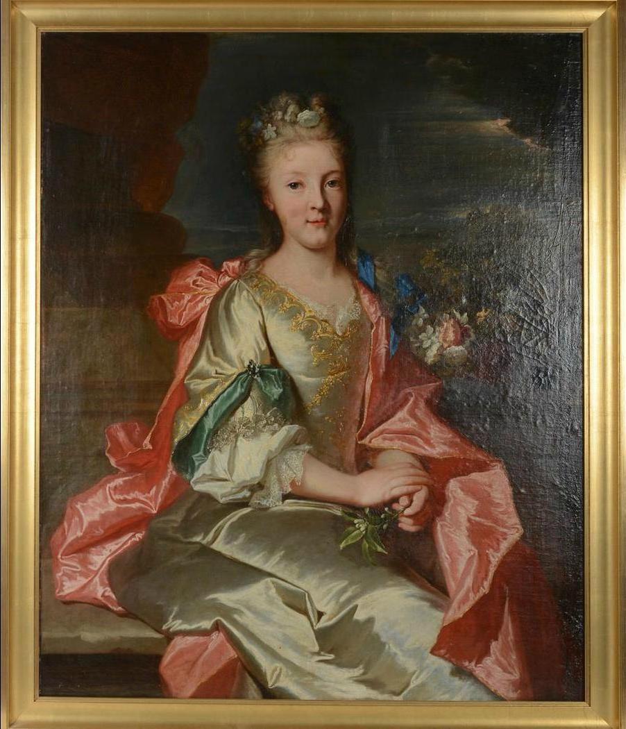 Portrait d'une jeune femme inconnue, vers 1705-1710, collection particulière