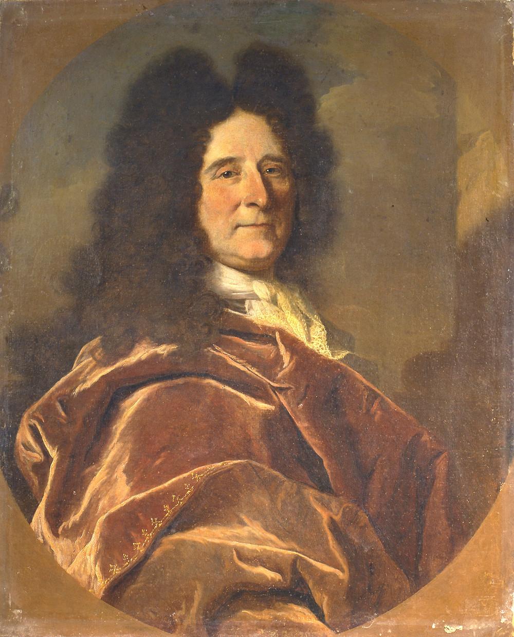 Hyacinthe Rigaud, Portrait du peintre Antoine Ranc, 1696, Narbonne, musée d'Art et d'Histoire, inv. 859.3.27