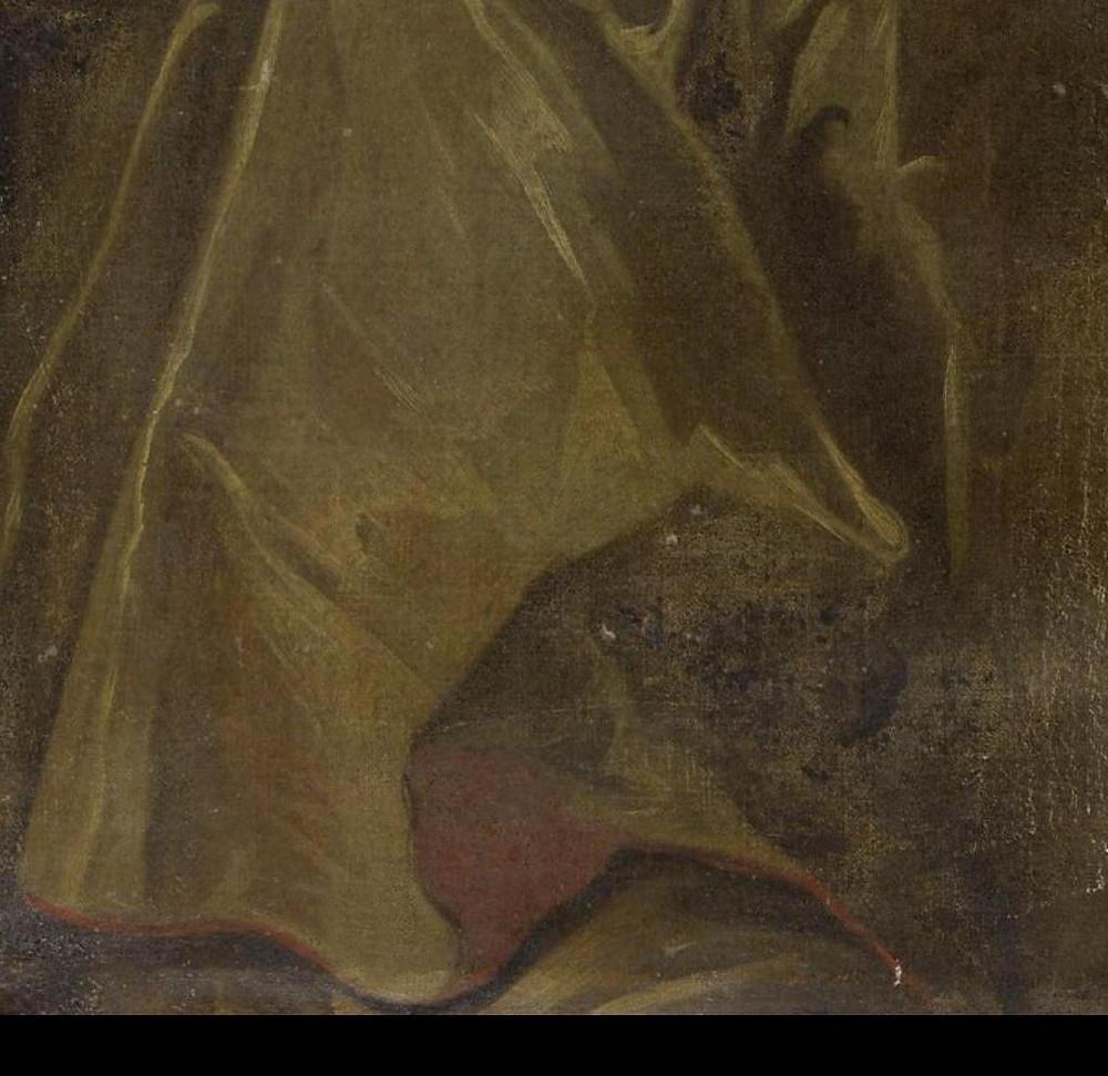 Anonyme du XVIIIe siècle (d'après Rigaud ?), Portrait de Gabriel Florent de Choiseul-Beaupré (détail), vers 1723 ?, collection particulière