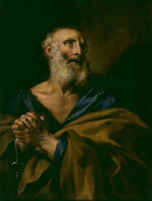Jean Nocret (?), Saint Pierre, Bruxelles, musées royaux des Beaux-Arts de Belgique, inv. 304