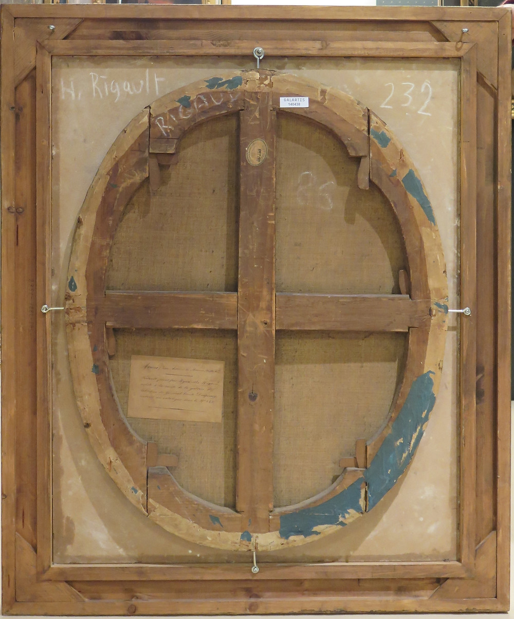 Dos du Portrait de Jean Antoine II de Mesmes