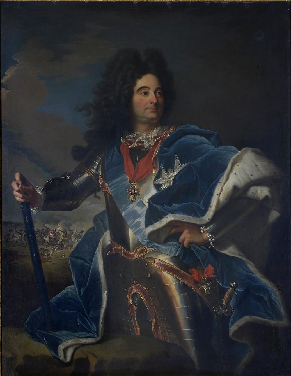 Atelier de Hyacinthe Rigaud, Portrait de Claude Louis Hector, duc de Villars, après 1713, Marseille, préfecture (dépôt du musée des Beaux-Arts de Marseille)
