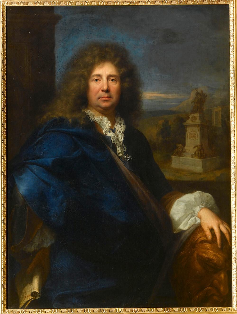 Hyacinthe Rigaud, Portrait du sculpteur Martin van den Bogaert dit Desjardins, 1683, Versailles, musée national du château et des Trianons, inv. MV 3583