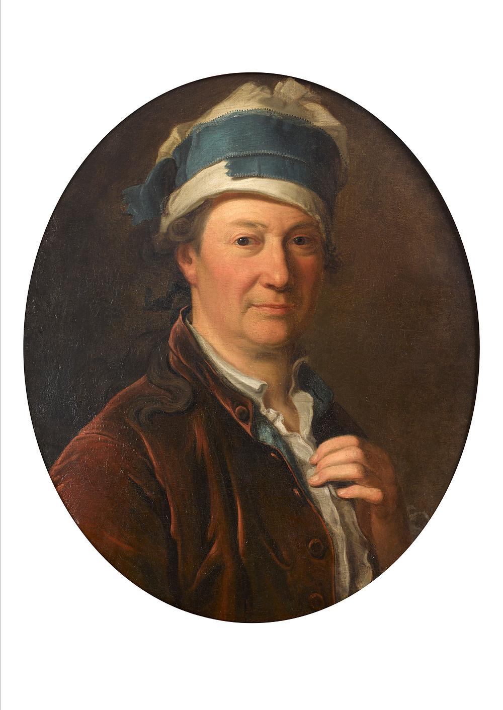 Michel Hubert-Descours, Autoportrait, 1770, collection particulière