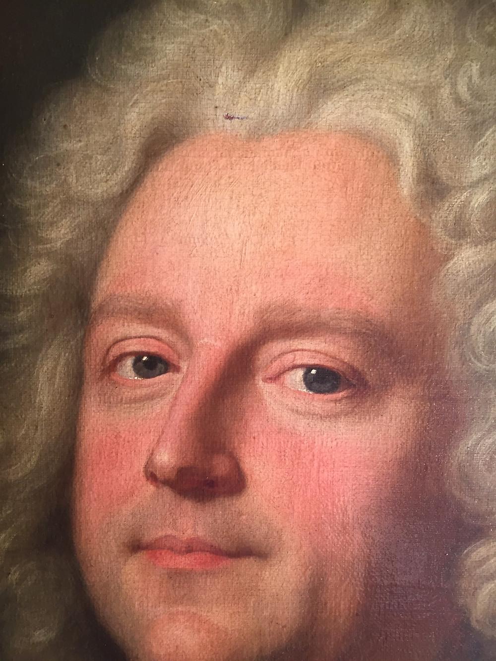 Hyacinthe Rigaud et atelier, Portrait de François Asselin, chevalier de Frenelle (détail), 1715, collection particulière