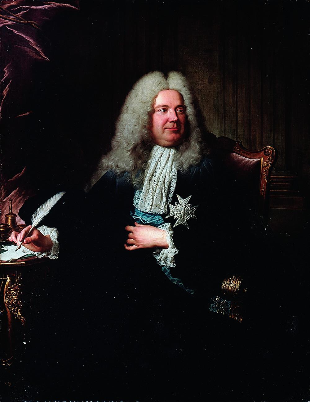 Hyacinthe Rigaud et atelier (Charles Sevin de La Penaye ?), Portrait de Charles Gaspard Dodun, marquis d'Herbault, 1724, collection particulière