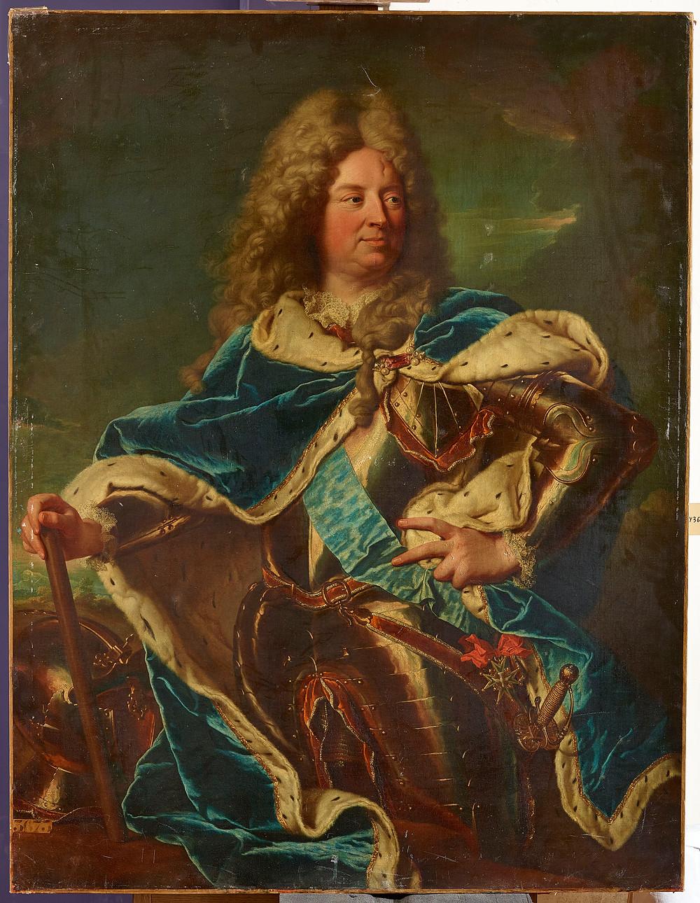 Anonyme d'après Hyacinthe Rigaud, Portrait de Louis Antoine de Pardaillan de Gondrin, duc d'Antin, après 1724, Versailles, musée national du Château et des Trianons
