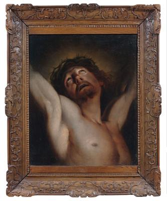 Un Christ couronné d'épines par Hyacinthe Rigaud