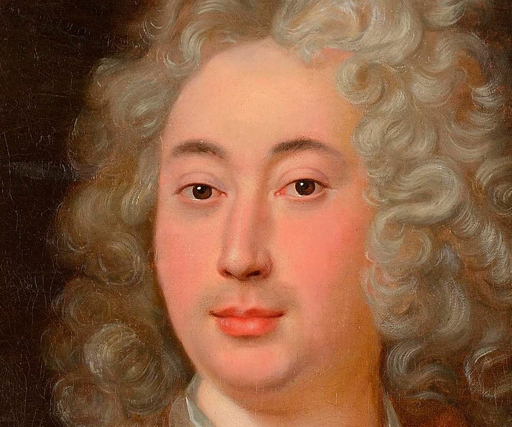 Anonyme d'après Hyacinthe Rigaud, Portrait d'un homme (détails), après 1715-1722, collection particulière