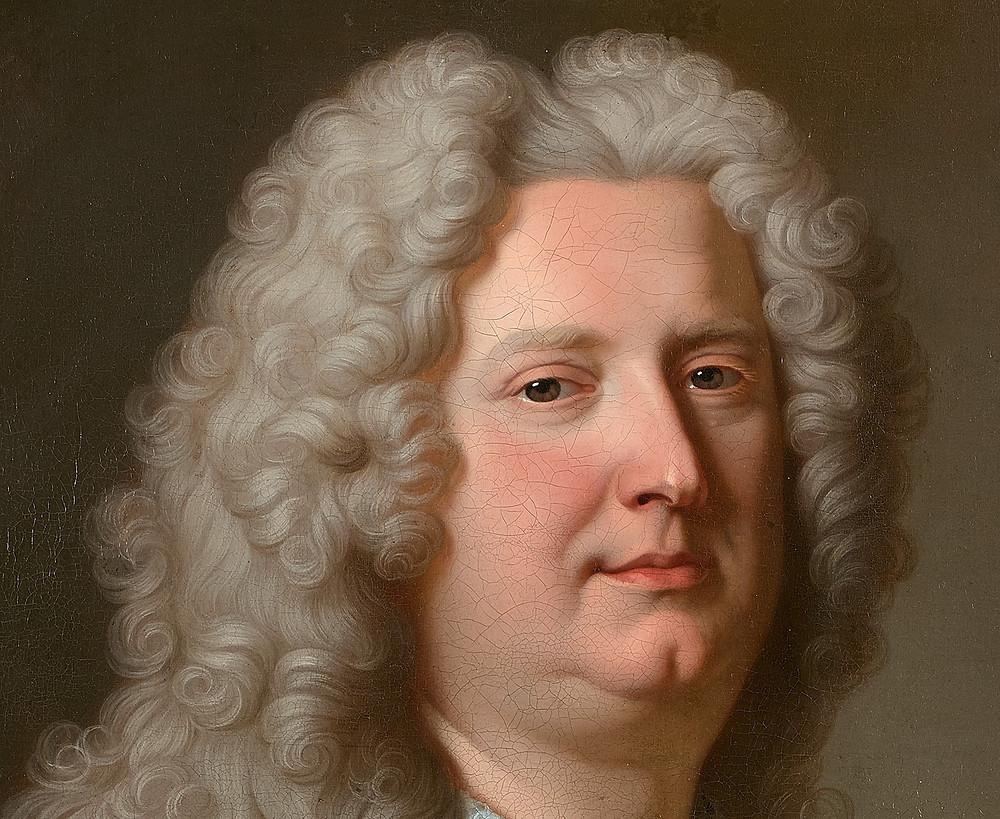 Hyacinthe Rigaud, Portrait d'un homme inconnu (détail), vers 1734, collection particulière