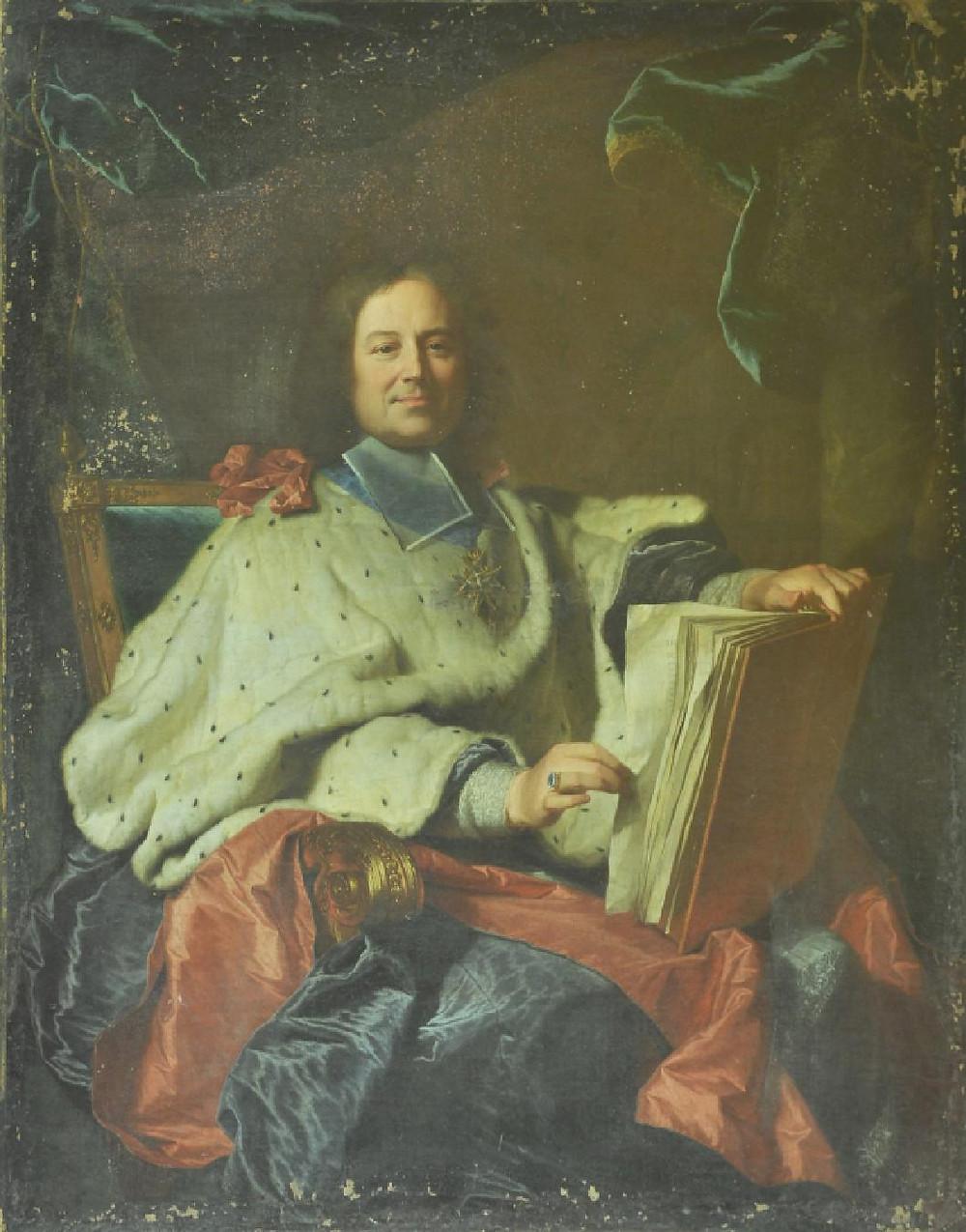 Hyacinthe Rigaud, Portrait de René François Beauvau du Rivau, archevêque de Toulouse, 1715, Montbrison, musée d'Allard, inv. 2013.06.01.