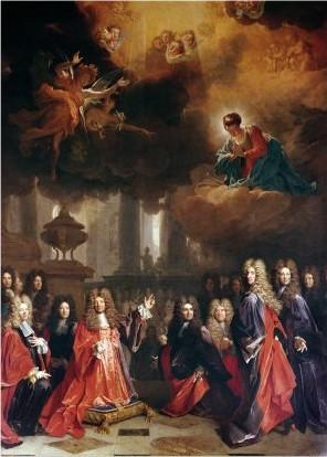 Nicolas de Largillierre, Ex-voto à sainte Geneviève, 1695-1696, Paris, Saint-Etienne-du-Mont