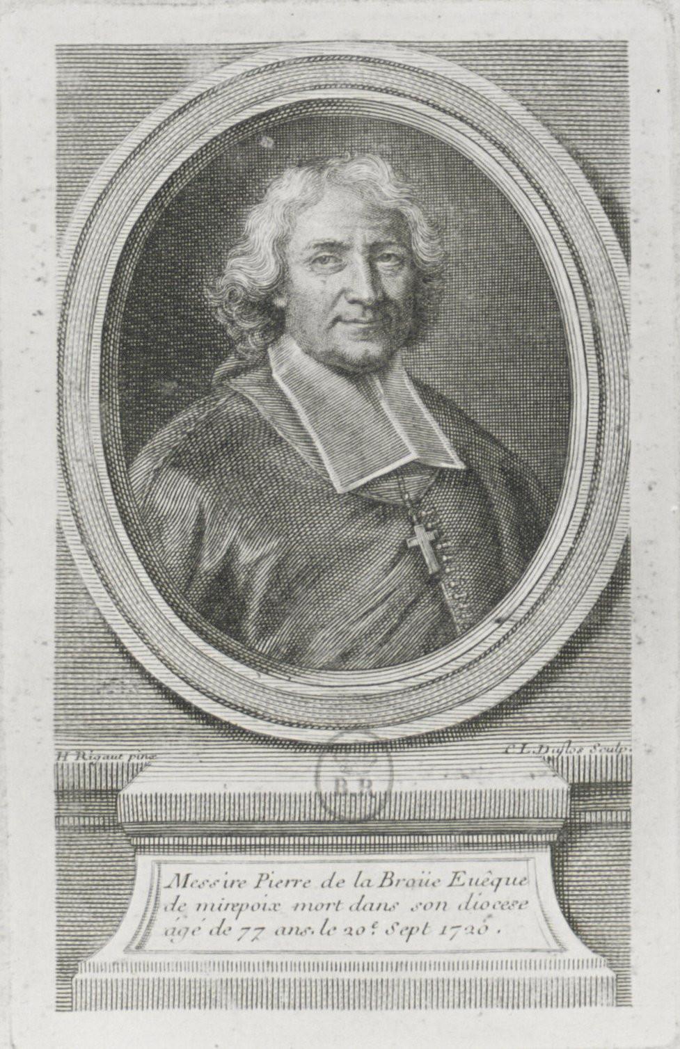 Claude Duflos d'après Hyacinthe Rigaud, Portrait de Pierre de La Broue, 1707, Paris, BnF, département des Estampes et de la photographie