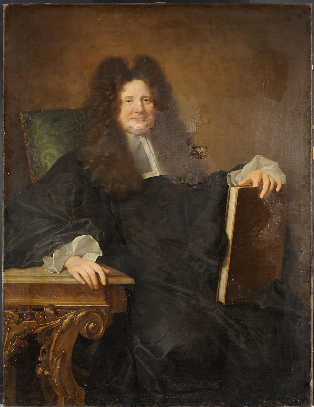 Hyacinthe Rigaud, Portrait présumé de François Secousse, vers 1696, Lyon, musée des Beaux-Arts, inv. A 2726