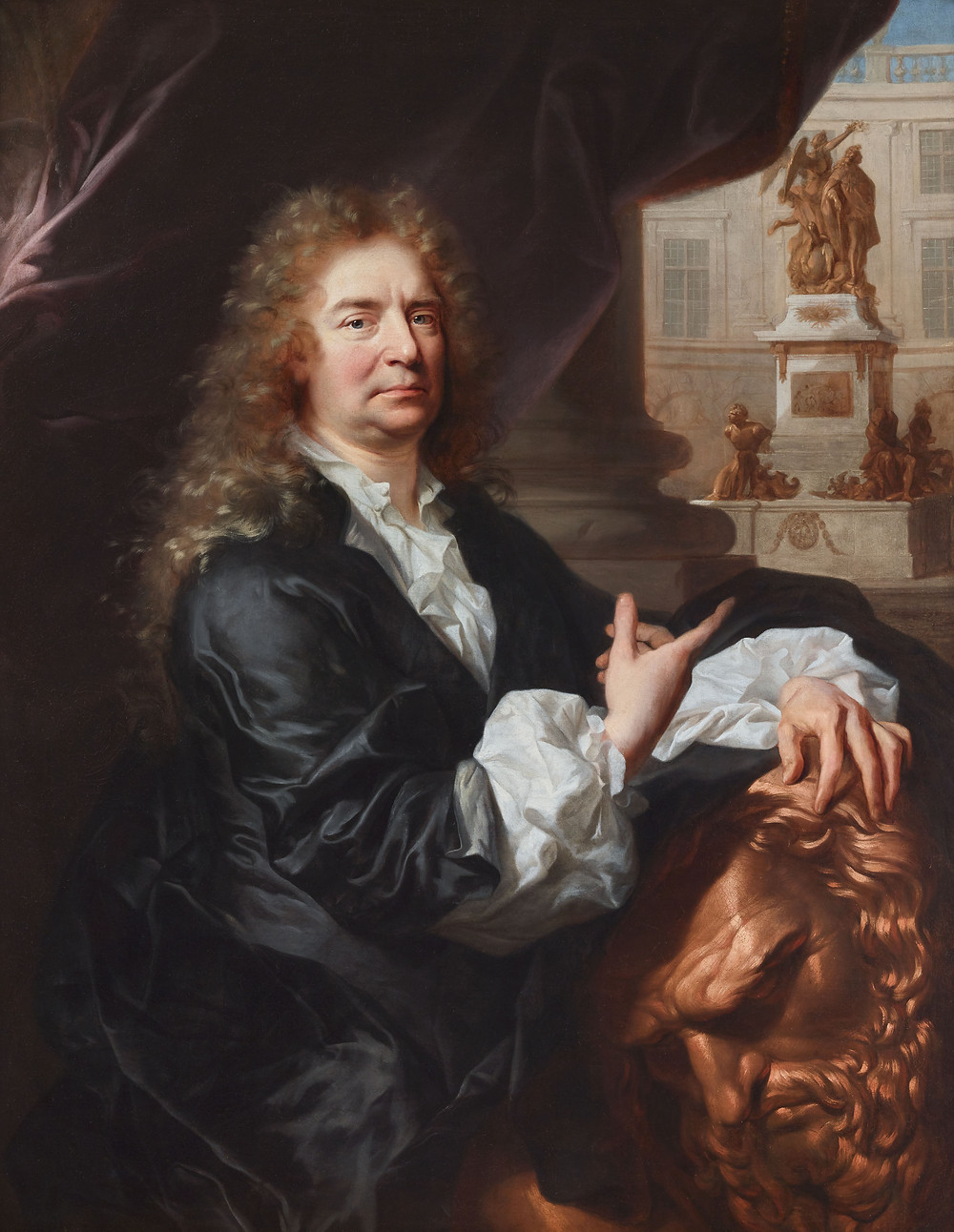 Hyacinthe Rigaud, Portrait du sculpteurMartin van den Bogaert dit Desjardins, vers 1686, Paris, Galerie Didier Aaron