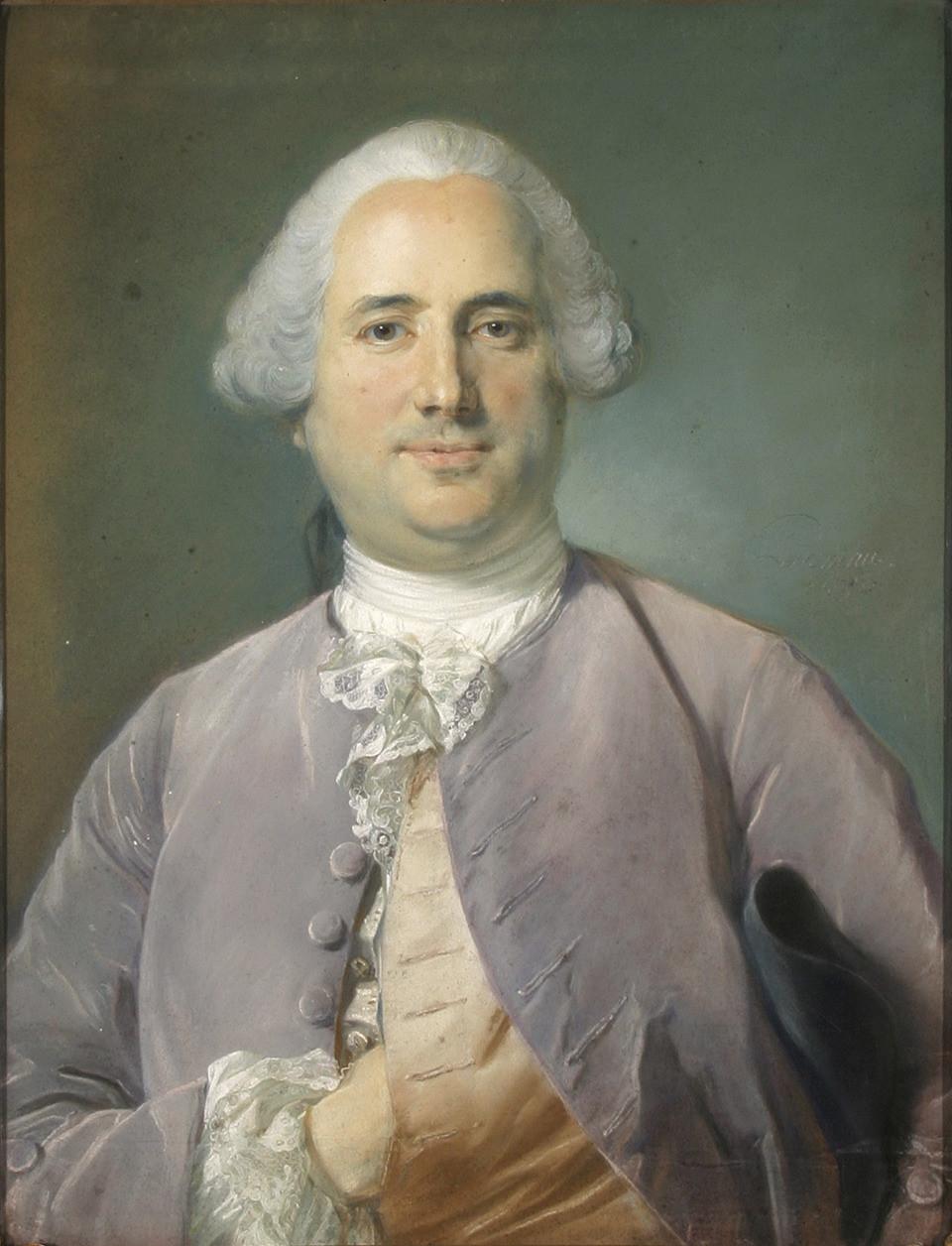 Jean-Baptiste Perronneau, Portrait de Jean François Lafontaine, 1750, collection particulière