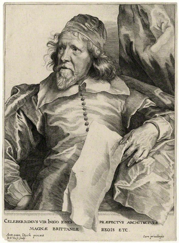 Robert van Voerst d'après Antoon van Dyck, Portrait d'Inigo Jones, Londres, British Museum, inv. 1863, 0509.851