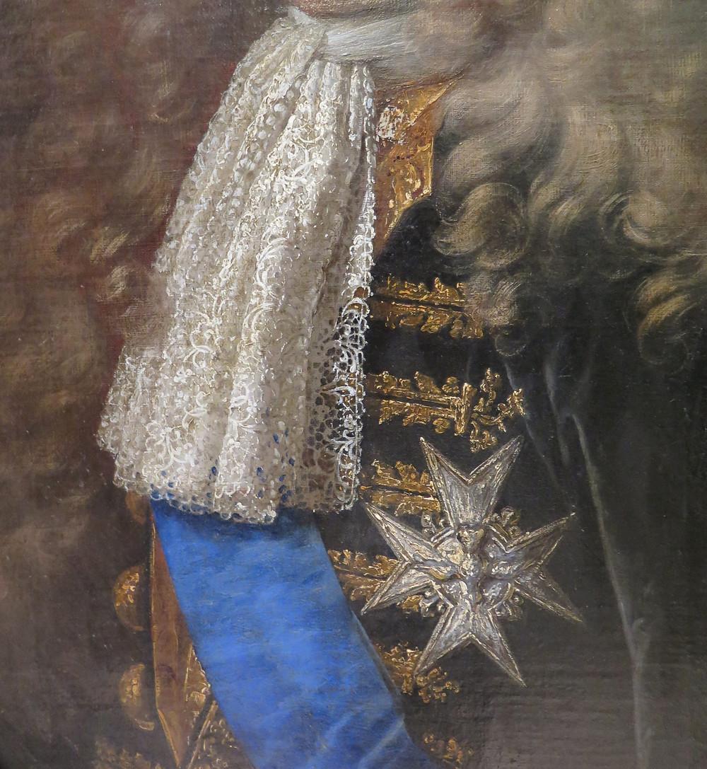 Hyacinthe Rigaud (et atelier ?), Portrait de Jean Antoine II de Mesmes, comte d'Avaux (détail), entre 1700 et 1702, localisation actuelle inconnue