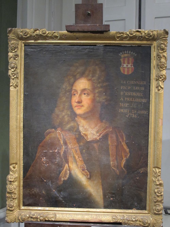 Anonymed'aprèsHyacinthe Rigaud, Portrait de François Henri d'Estavayer-Mollondin,après 1705,collection particulière