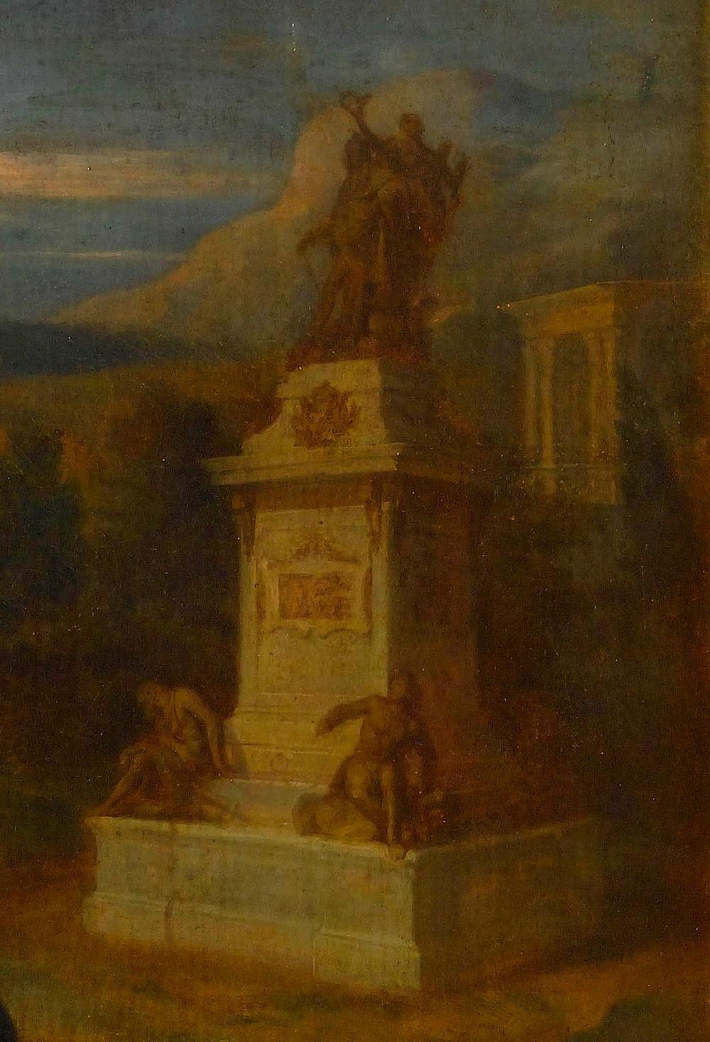 Hyacinthe Rigaud, Portrait du sculpteur Martin van den Bogaert dit Desjardins, 1683, détail, Versailles, musée national du château et des Trianons, inv. MV 3583