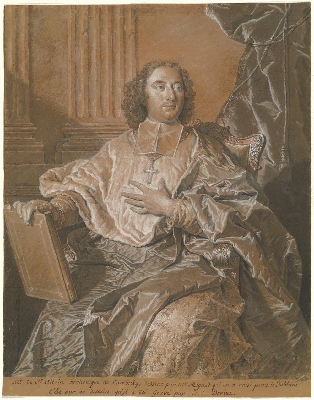 Hyacinthe Rigaud, Portrait de Mgr de Saint-Albin, avant 1741, Washington, National Gallery of Art, inv. 2002.27.1